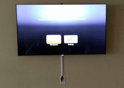 Custom TV with both internal and external concealment